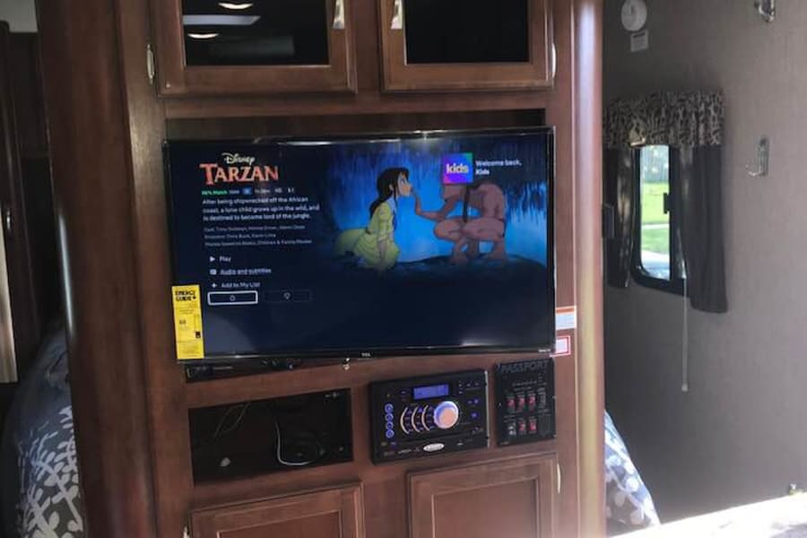 Main Smart TV and audio system