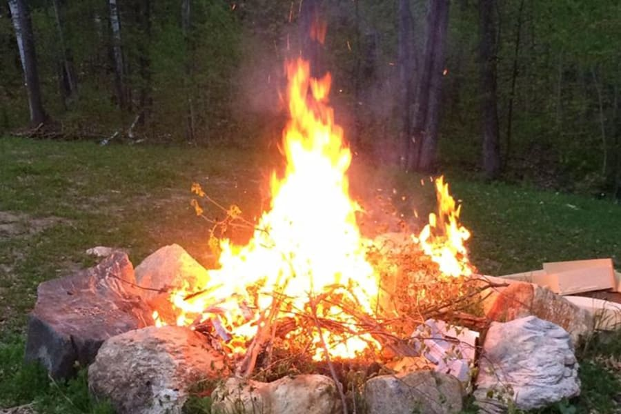 Pull up a chair and enjoy a fire in the firepit. Firewood is available for a small charge.
