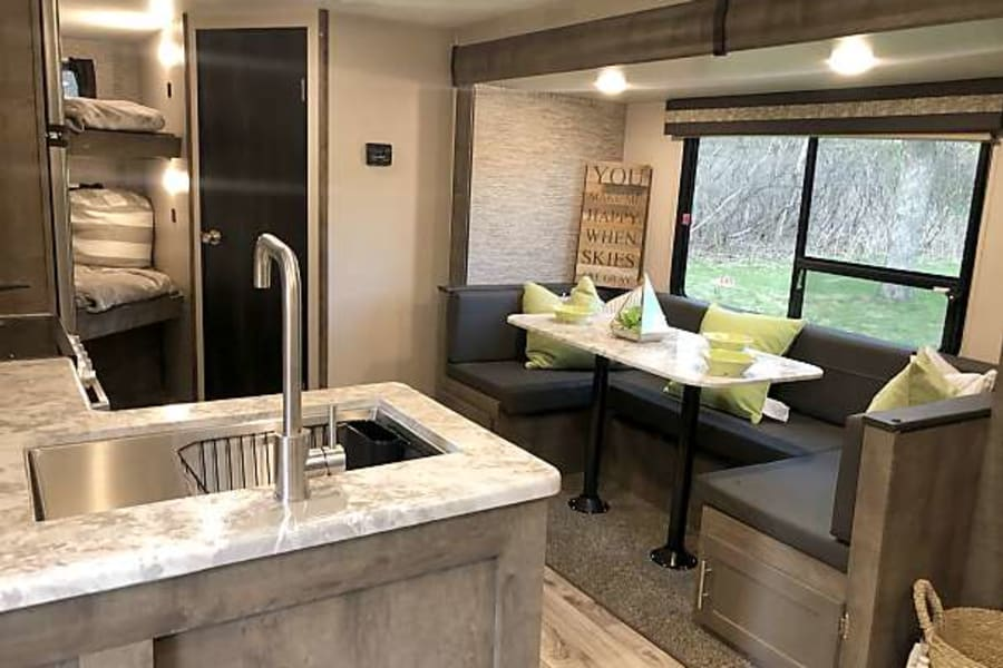 Beautiful appointments in this brand new camper