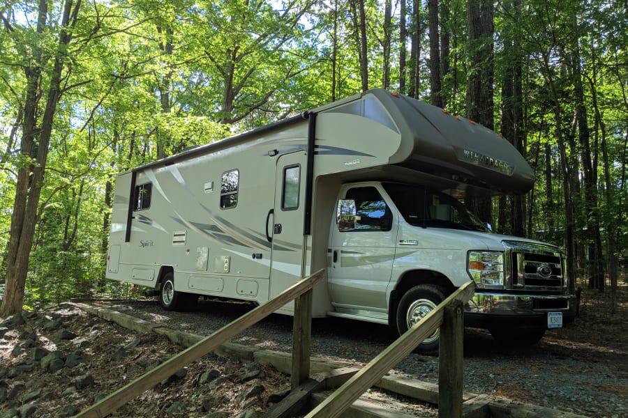 RV at Falls Lake Campground