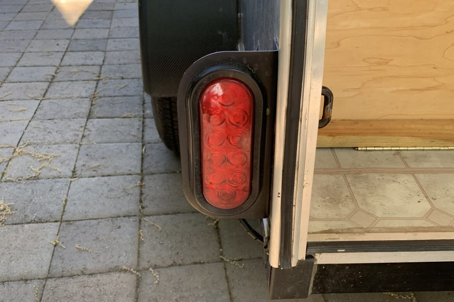 This is a picture of the tail lights. I just replaced them and they are super bright! Safety first.