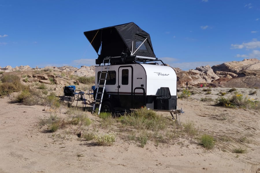 Camping in style in Goblin Valley
