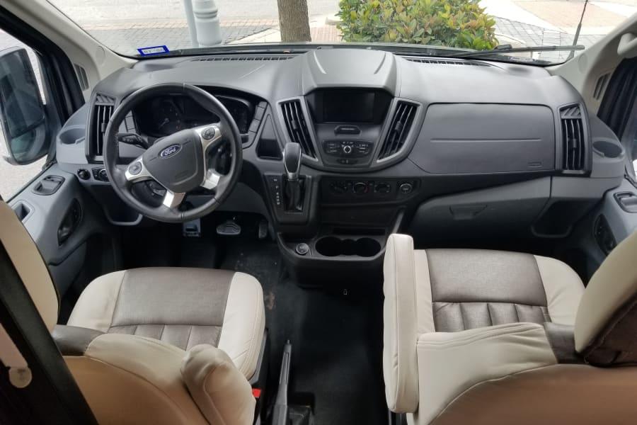 The cockpit.  The passenger seat swivels around.