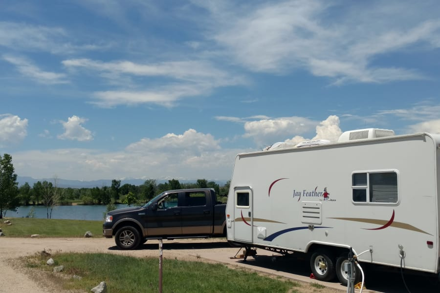 Camping in St. Vrain State Park, Colorado