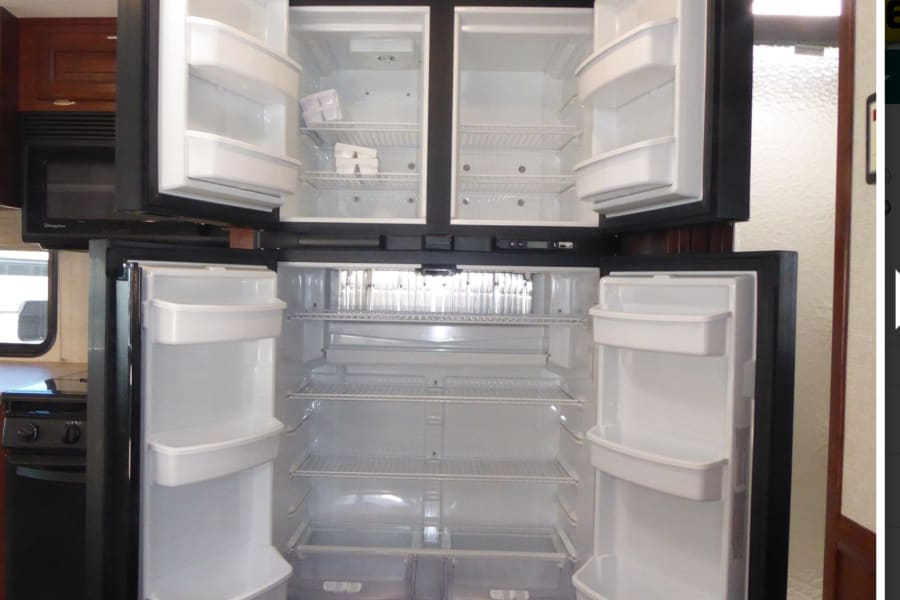Lots of space in refrigerator and freezer.