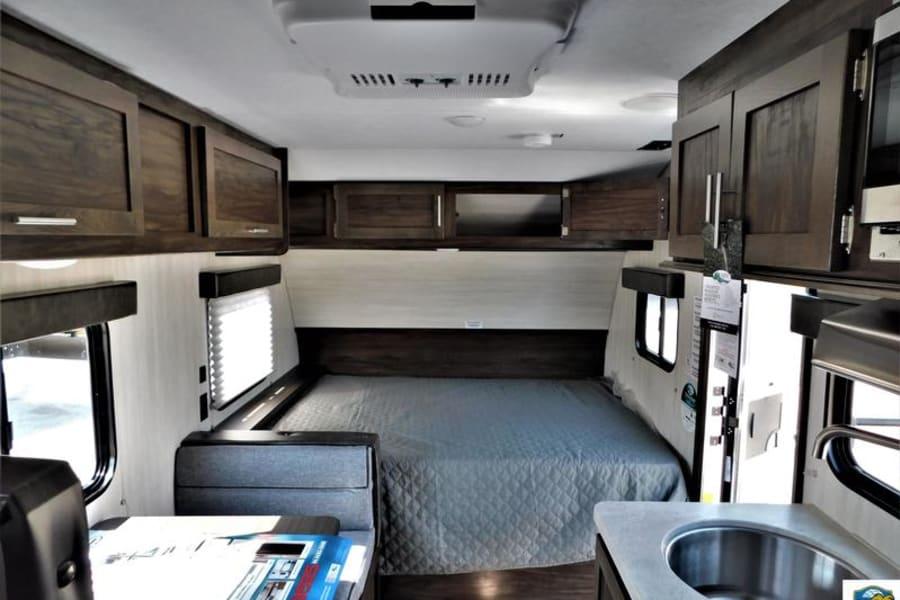 Queen Bed - Front of trailer