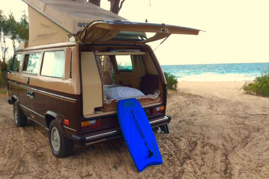With a large rear hatch and a reversible back seat, you can easily create a perfect, cozy beachside couch.