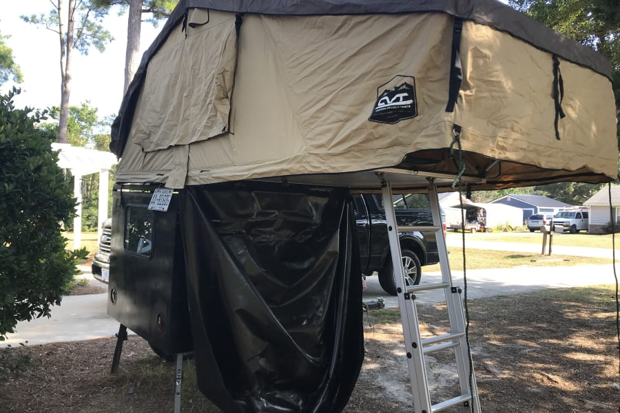 Without annex.  This is for that quick tent site set up where you may be jumping from place to place - night by night.  Back it in your site set your leveling jacks and fold out the tent - easy breezy