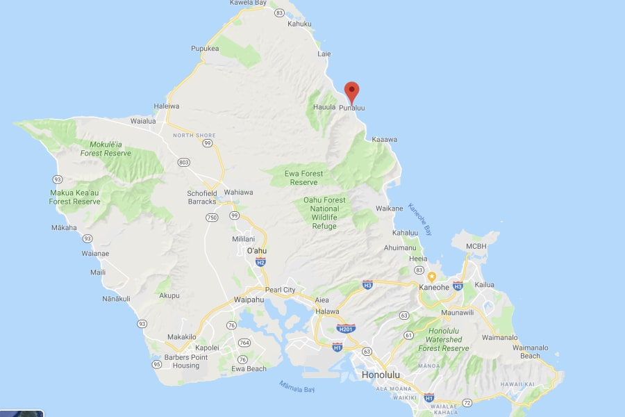 Our Campground is located right next to the beautiful sandy beach of Punalu'u Oahu