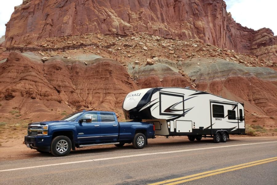 One of my renters on the road to Capitol Reef National Park!!