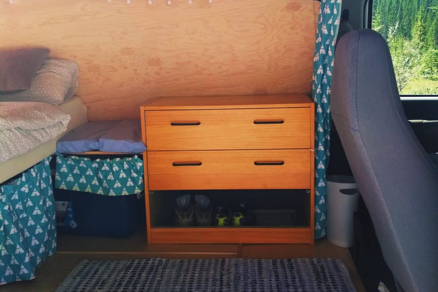 Spacious drawer with shoerack