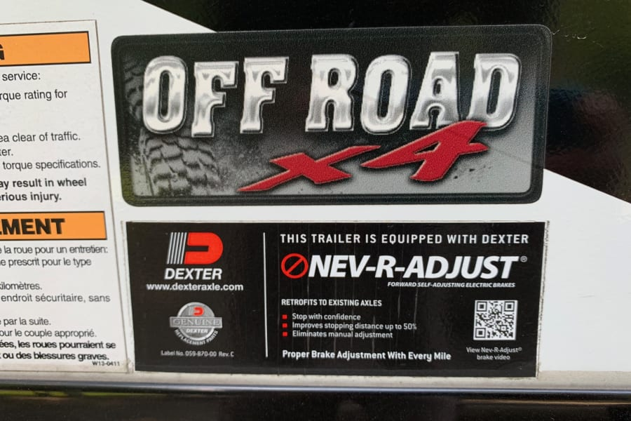 This trailer has an off road package, which gives it a lot more clearance than most travel trailers to get you into any spot.