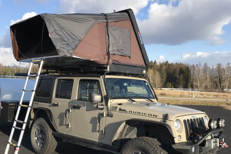Overland Jeep Package with an iKamper roof top tent.