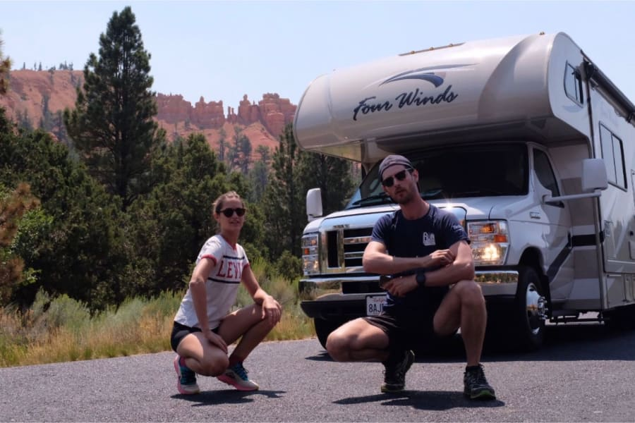 Nicholas and Elisabeth all the way from Paris, enjoying Zion and Bryce canyon 8-16-19