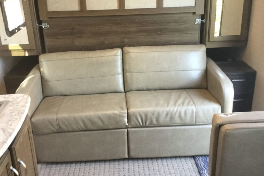 Nice couch easily folds down to queen bed