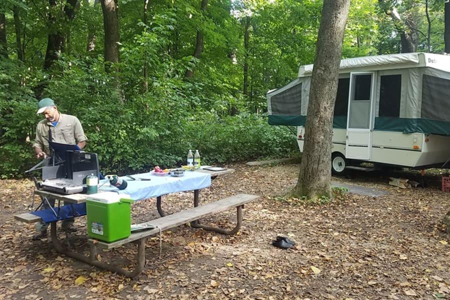 Marlon Gunderson and his family had fun at Frontenac State Park.
