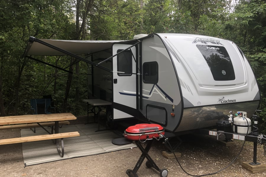 Great Family Trailer. Slide out opens the interior up to a nice size for rainy days.