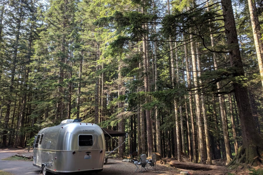 The Airstream is versatile and the 22' length fits most campsites.
