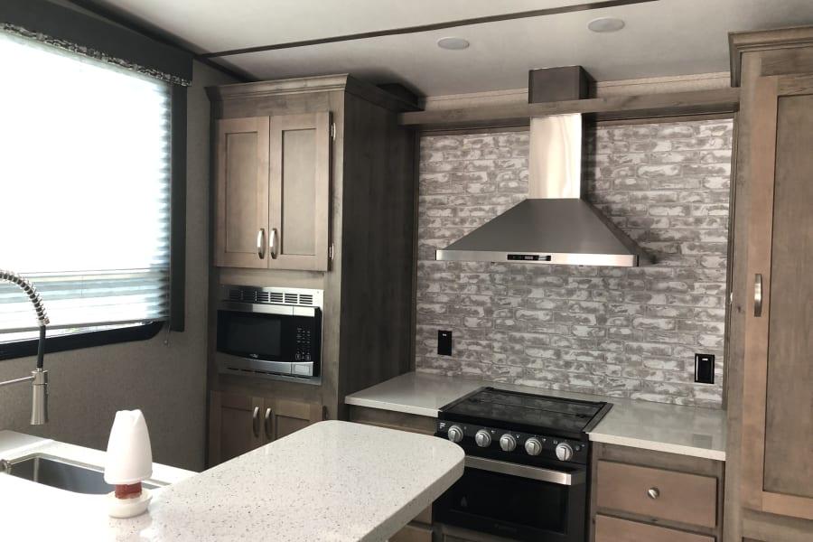 Large Kitchen with Full Size fridge