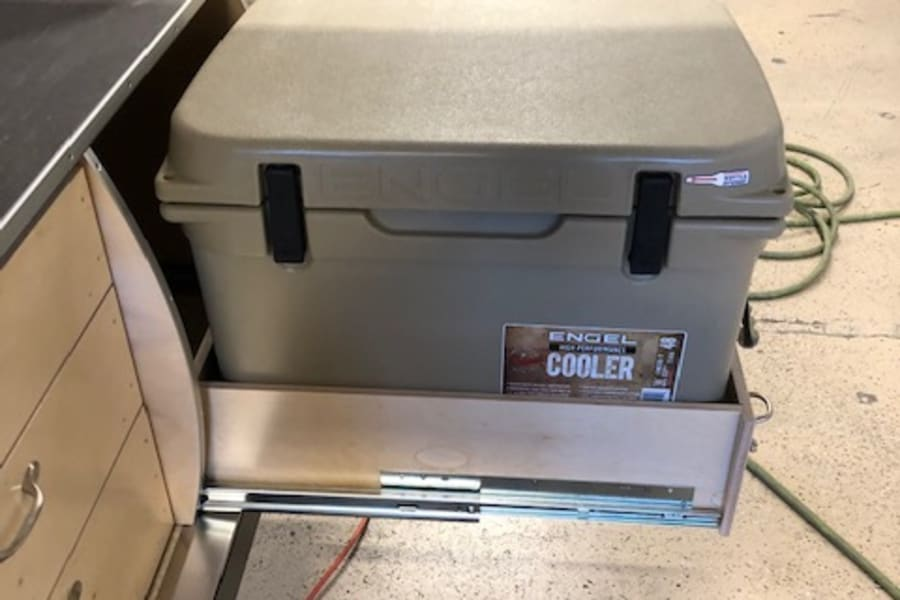 This Engel cooler will keep ice frozen for up to 8 days.
