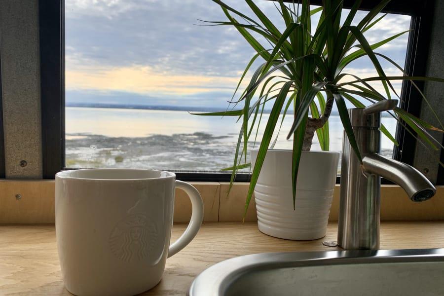 café au bord du saint laurent Qc