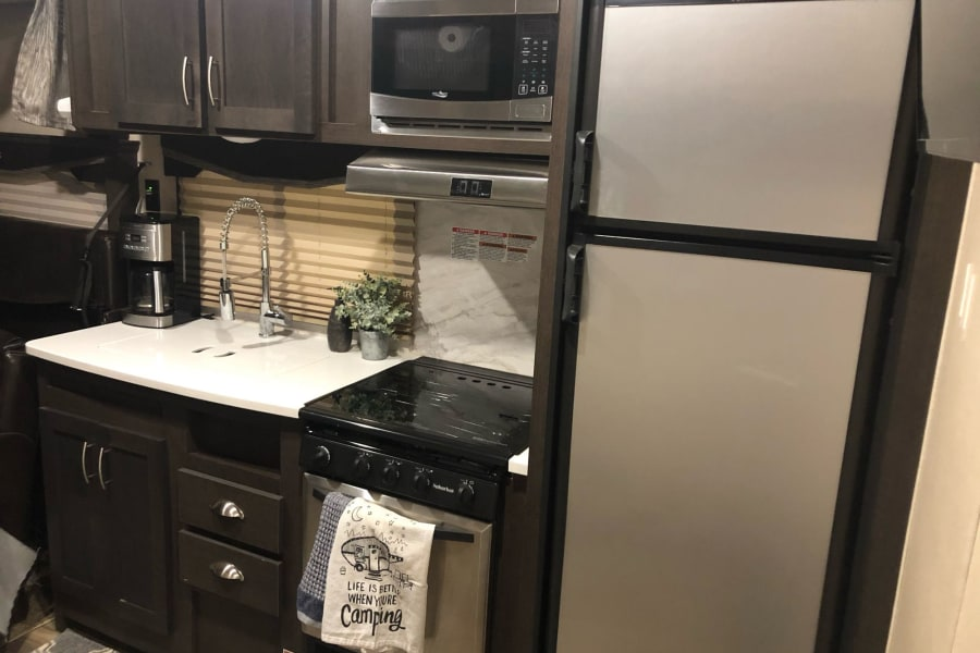 Kitchen Set-Up and Refrigerator