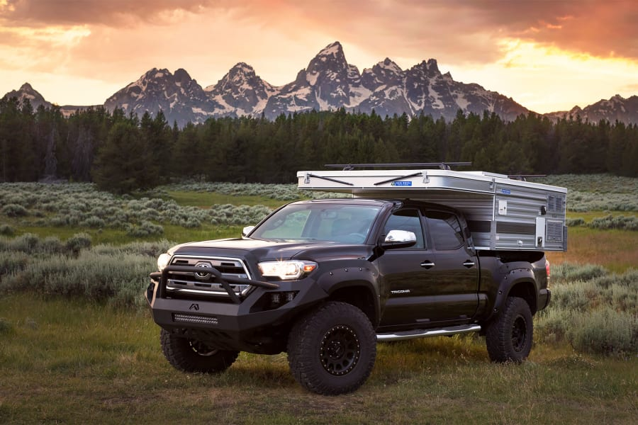 The rig in Grand Teton National Park