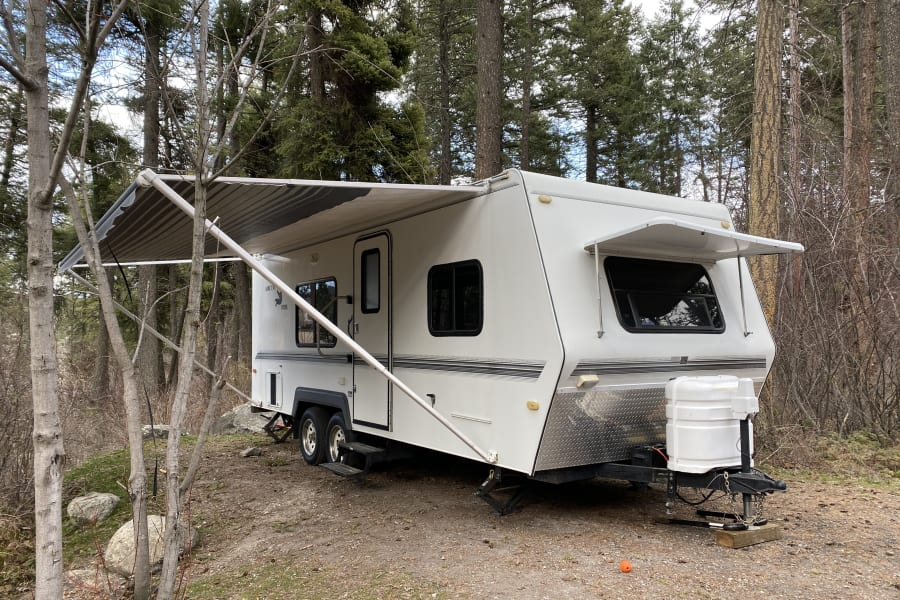 Manual Carefree Colorado awning is very easy to operate. (one person can deploy and take-down)