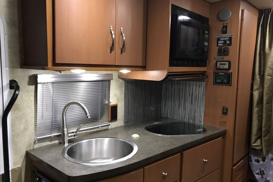 Kitchen and microwave