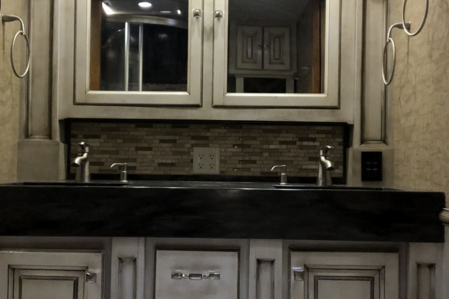 Master bathroom with his and hers sink