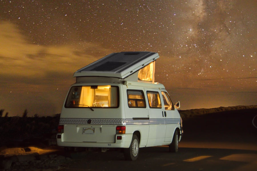 "Watching the Milky Way is a ""must-do"" in a camper van."