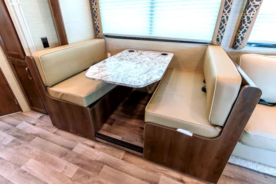 Dinette turns in bed easily
