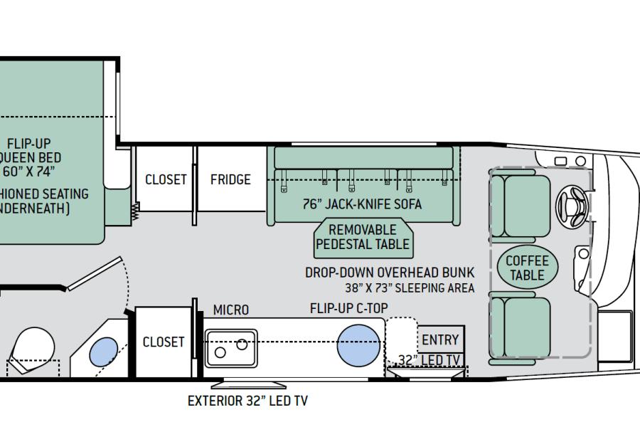 Thor Vegas 25.3 Floorplan