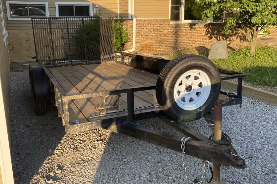 Front view with spare tire.