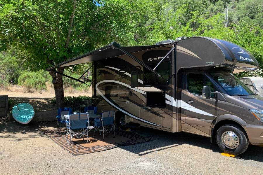 Camp setup, Lake Berryessa