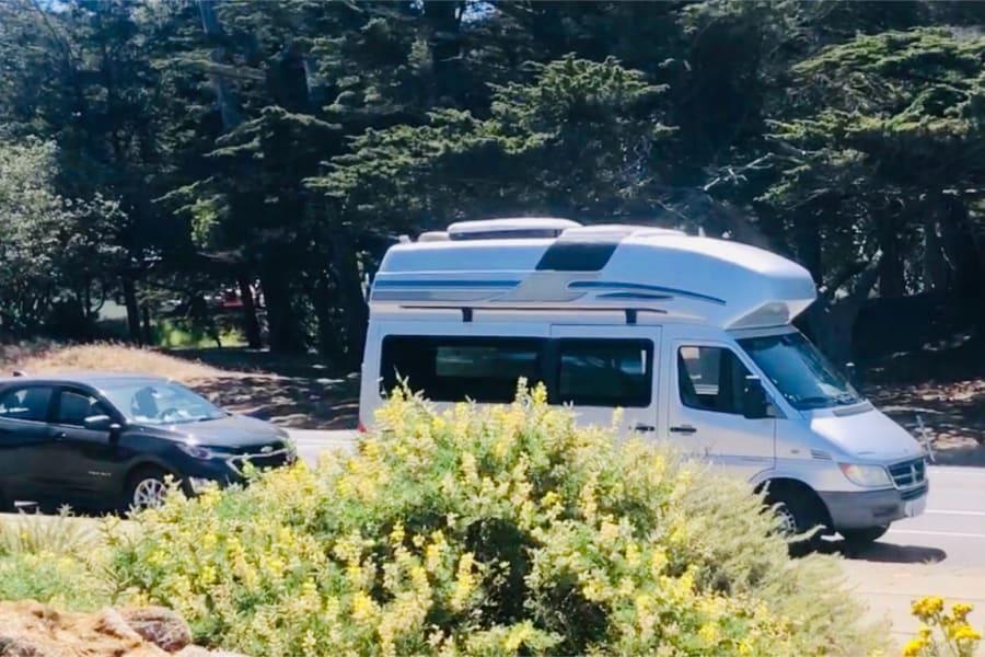 Very Compact CamperVan Park in regular parking Space