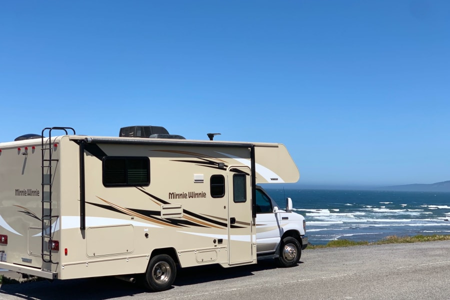 Camping on the beach off 101 North