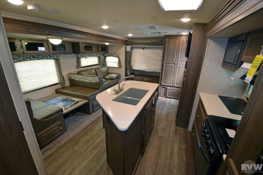 From back linen closet to front of camper.
