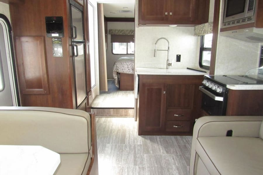 Inside of camper