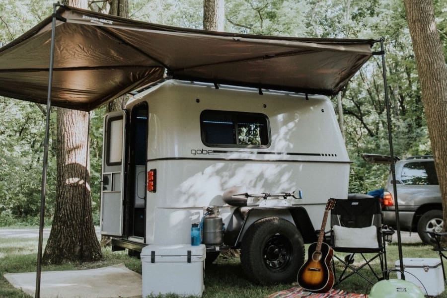 The GoBE Nomad quickly and easily transforms into a fully functional and fun campsite.