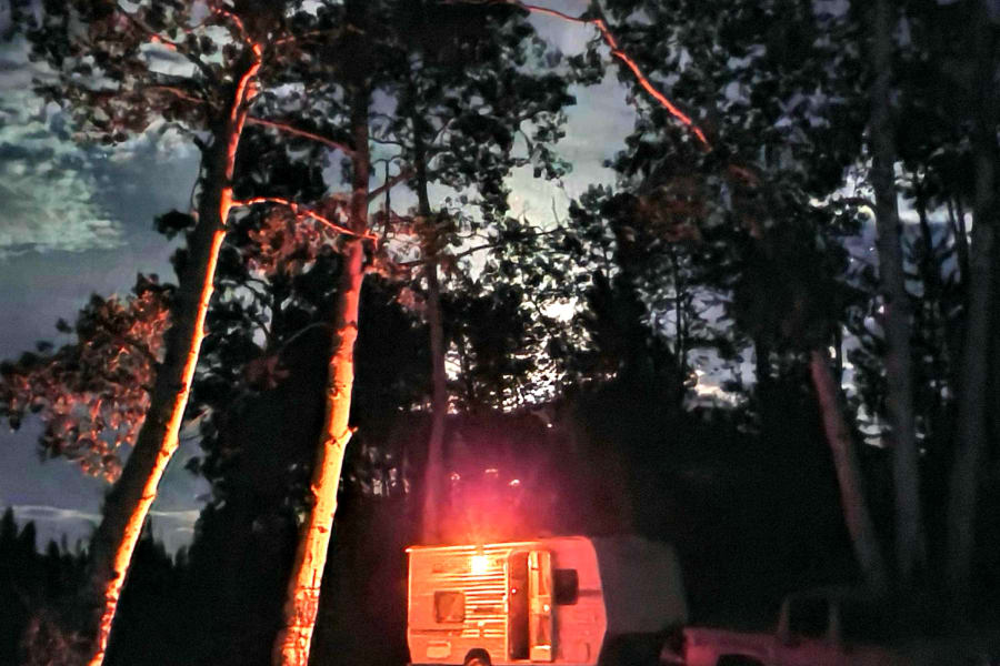 Beautiful moon-rise from Glade Park camping trip. July 11, 2020