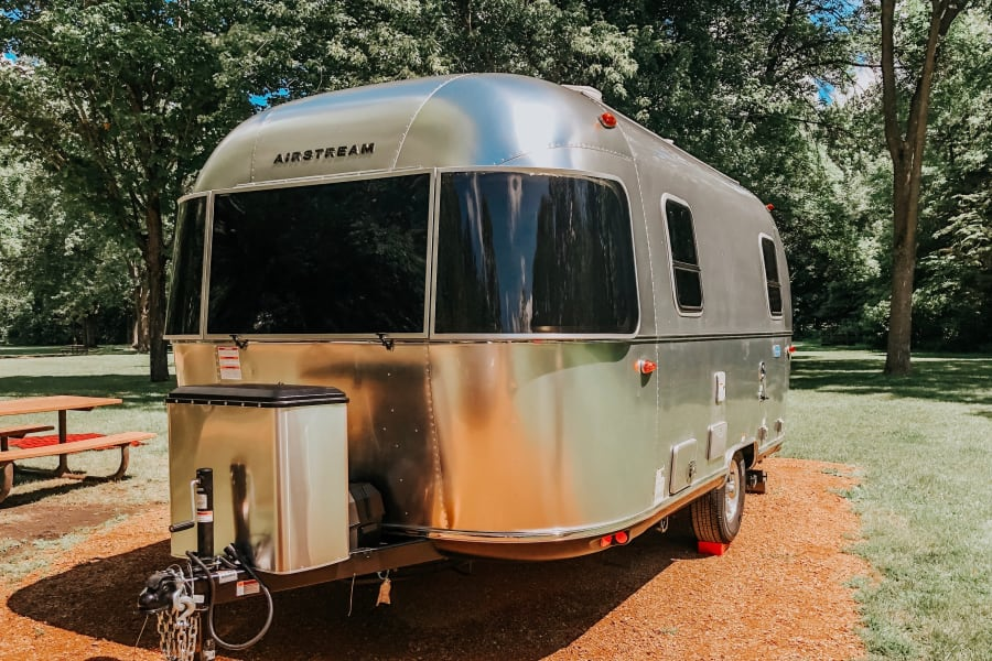 """We Adventure Well"" Bambi Airstream"