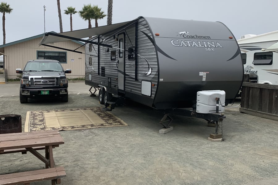 Delivery setup and pickup is the only way to travel! This is what you arrive to at your campground!