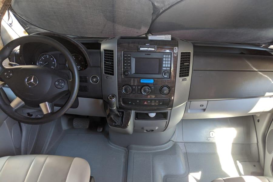 Front driver's cockpit
