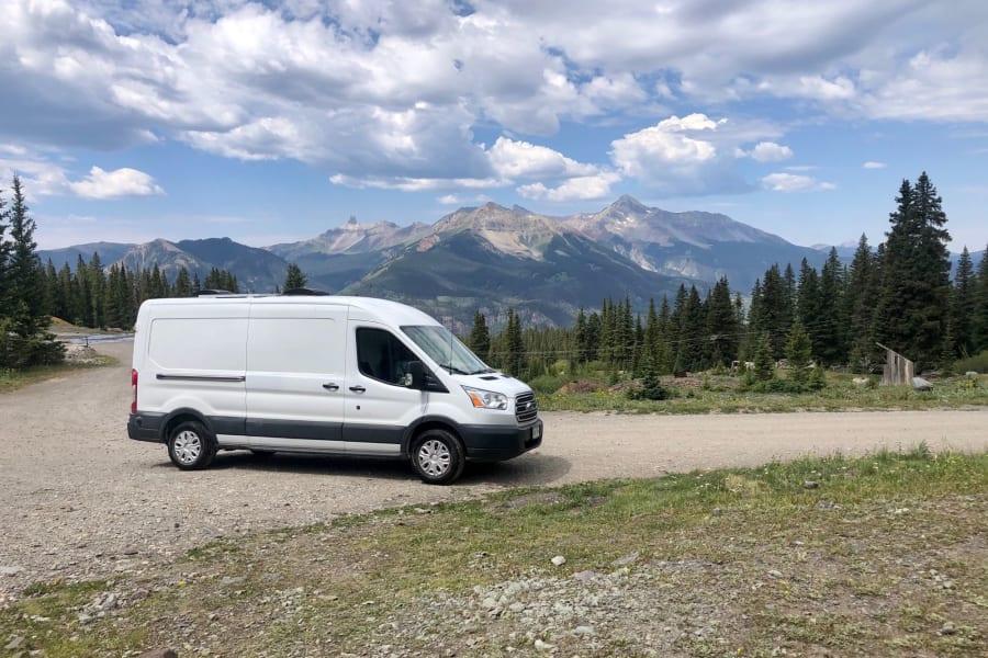 The van in all her glory!