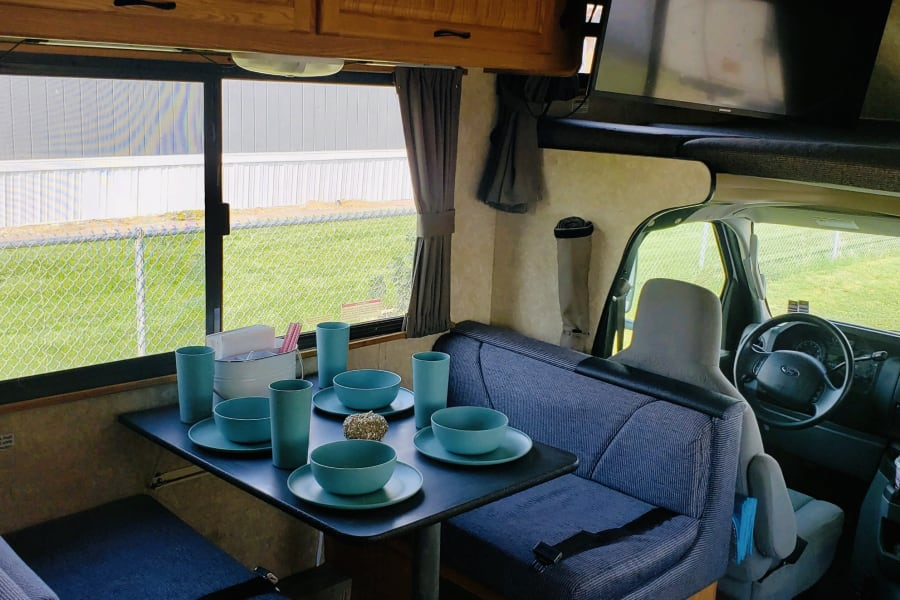 Dinette and driver seat