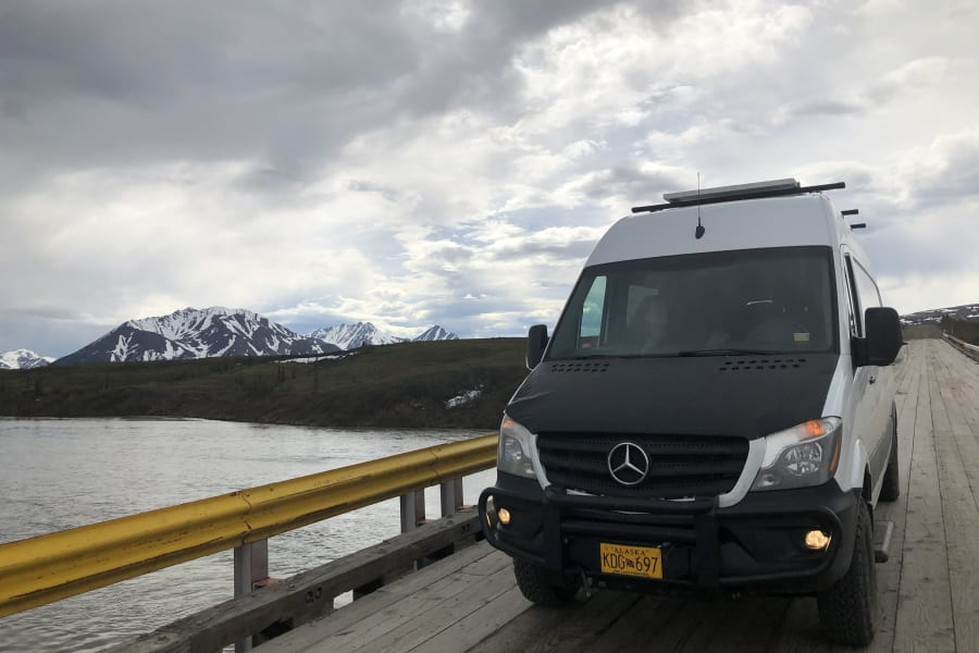 Come to Alaska and experience world-class views around every turn.  Our van has everything you need. Just bring your clothes .