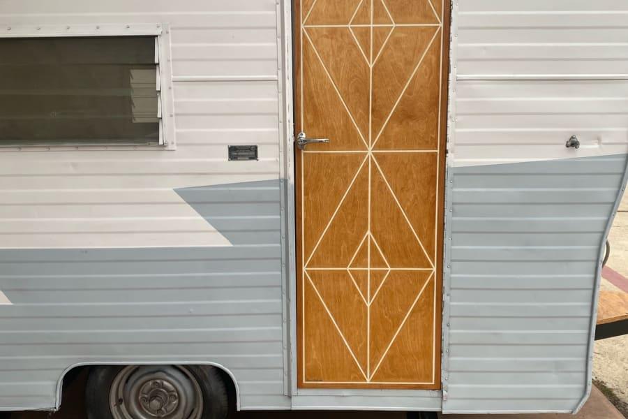 Hitch's New Custom Made Door.