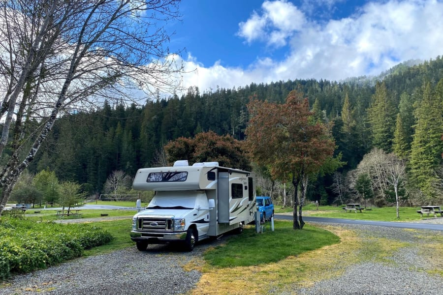 This renter submitted photo was taken at a campground near the Avenue of the Giants.