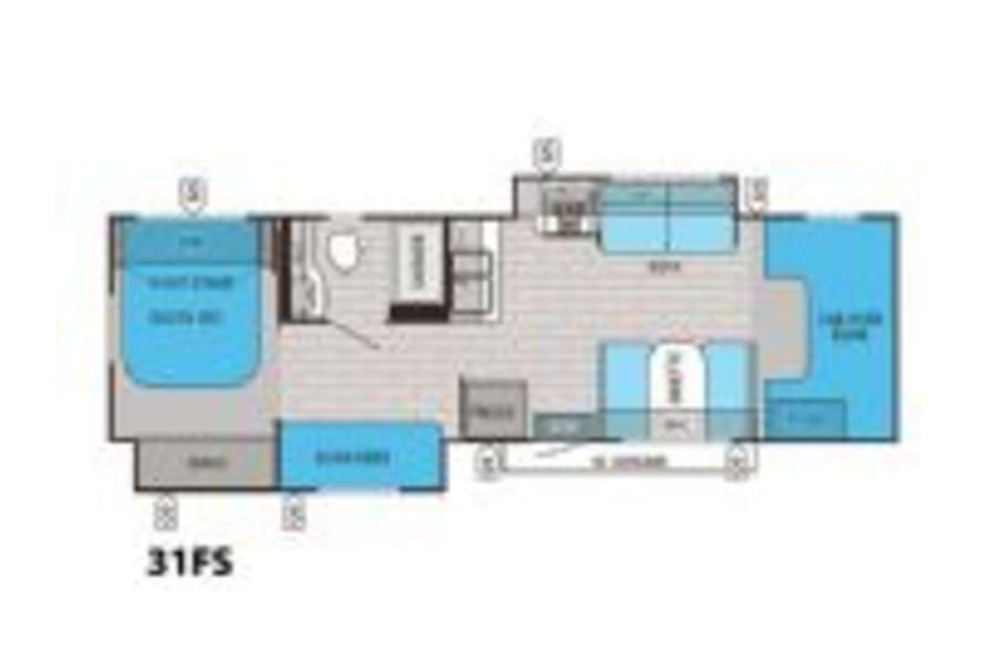 floorplan 2016 Jayco Greyhawk 31FS Thornton, CO